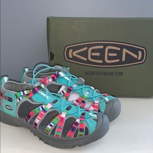 Keen raya fusion sandals youth 6/woman's 8
